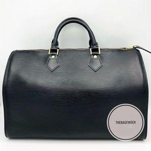 Louis Vuitton Speedy 35 Epi Black